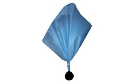 Blue Football Referee Flag w/Black Ball