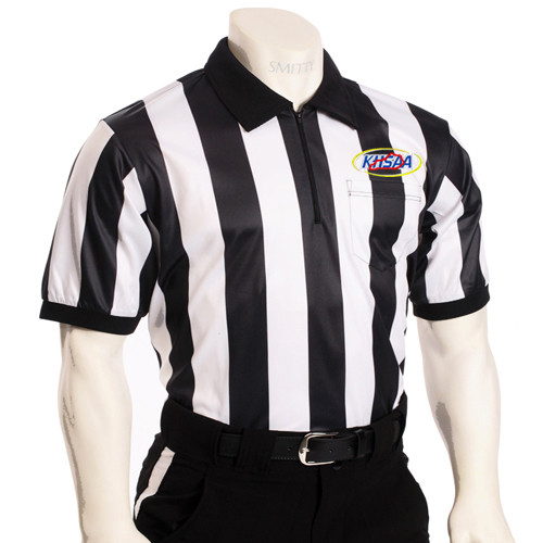 """Smitty KHSAA Embroidered SS 2"""" Stripe Football Referee Shirt"""