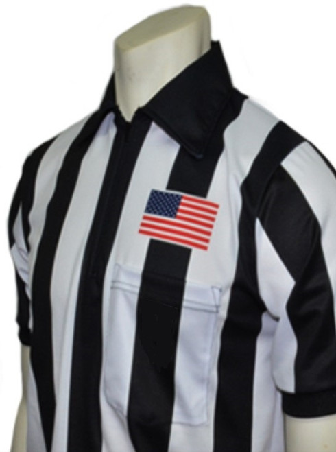 "Smitty Body Flex® 2"" Stripe Short Sleeve Football Referee Shirt"