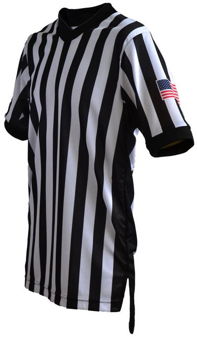 Smitty Dye Sublimated Body Flex  Side Panel Basketball Referee Shirt.