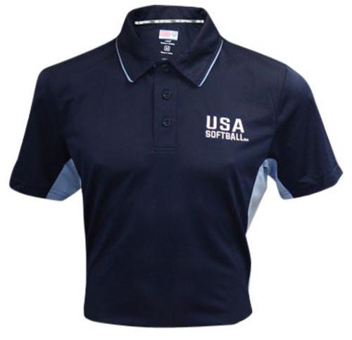 USA Softball Navy Blue Umpire Shirt
