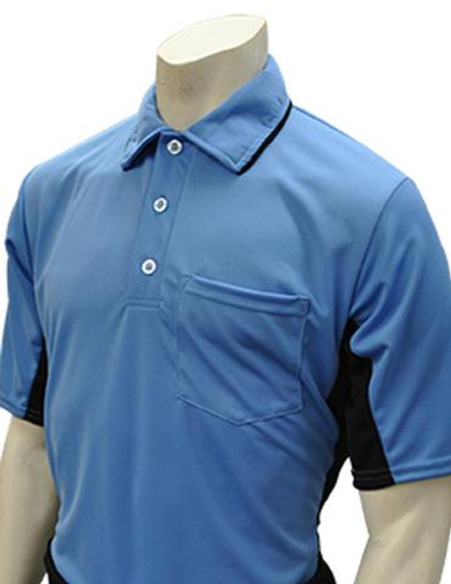 Smitty MLB Style Sky Blue Umpire Shirt with Black Side Panel