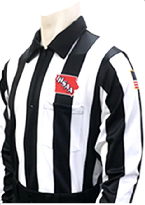 """Smitty Iowa IHSAA 2 1/4"""" Dye Sublimated Foul Weather Football Referee Shirt"""