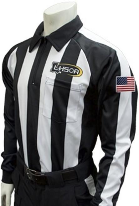 Louisiana LHSOA Dye Sublimated LS Football Referee Shirt