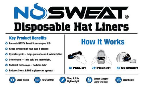 NoSweat Cap and Helmet Liner & Sweat Absorber