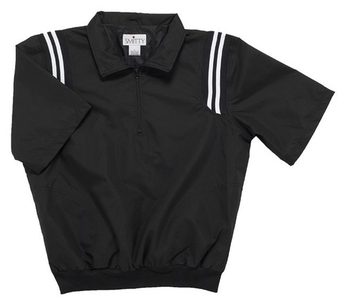 KHSAA Black Half Sleeve Umpire Pullover with Black and White Trim