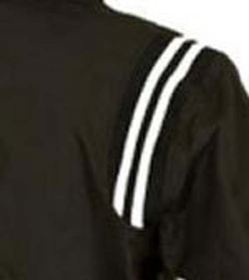 Black Half Sleeve Umpire Pullover with Black and White Trim