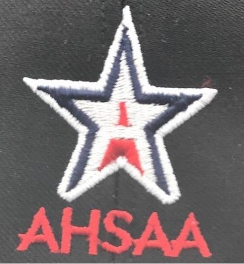 Alabama AHSAA Navy Fitted Mesh 8-stitch Umpire Cap