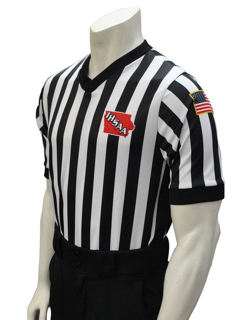Smitty Iowa IHSAA Dye Sublimated Side Panel Basketball Referee Shirt