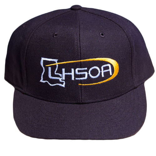 Louisiana LHSOA Fitted Black 6-stitch Mesh Combo Umpire Cap