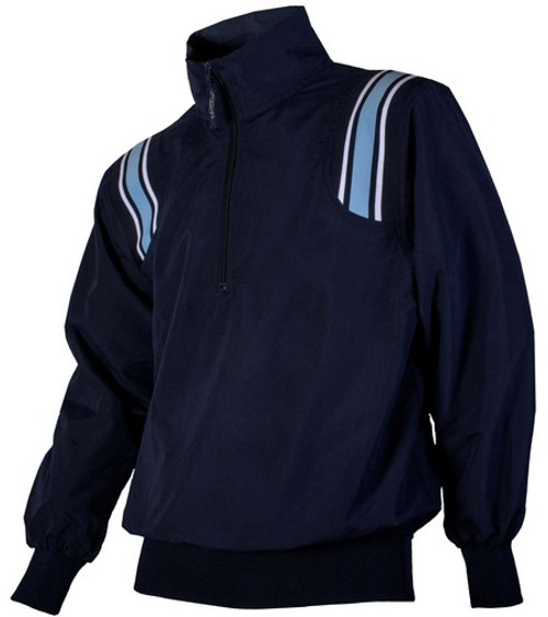 Honig's Navy Umpire Pullover with Powder Blue and White Trim