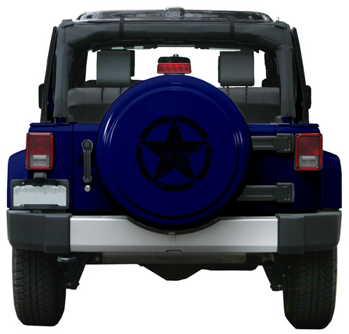 Distressed Wwii Star Color Matched Rigid Tire Cover For