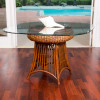 Havana Round Table With Glass Top