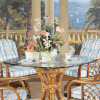 """Santa Cruz 45"""" Dining Table With Beveled Glass Top"""