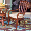 Cuba Dining Arm Chair in Sienna finish