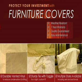 "Furniture Cover Cabo/Bainbridge 32"" x 32"" Square Coffee Table"
