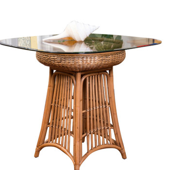 Havana Round Counter Table With Glass Top