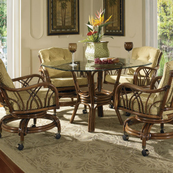 Orchard Park 5 PC Dining Set with Caster Dining Chairs