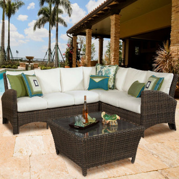 Panama Outdoor Sectional One Arm Loveseat LSF