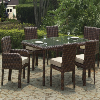 Saint Tropez 7 PC Dining Set with Arm Chairs