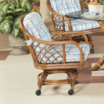 Santa Cruz Dining Chair With Casters