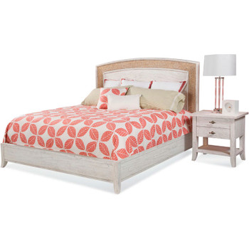 Fairwind Queen Seagrass Complete Bed with  Nightstand