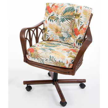 Cuba Tilt Swivel Caster Chair  in Sienna Finish