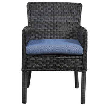 Lorca Outdoor Arm Chair - Union Pacific Fabric - front