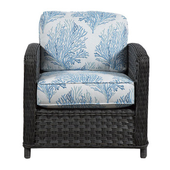 Lorca Outdoor Chair - Aquaria Blue Fabric -front