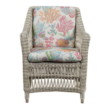Paddock Outdoor Arm Chair - Seas Fiesta Fabric - front
