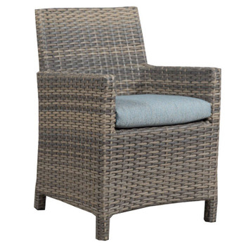 Mambo Outdoor Center Matched Arm Chair - Adena Azure Fabric