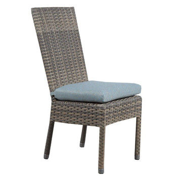 Mambo Outdoor Dining Chair - Adena Azure Fabric - side
