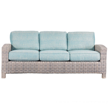 Mambo Outdoor Sofa - Chartres Turquois Fabric - front
