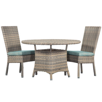 Mambo Outdoor 3pc Dining Set with Dining Chairs