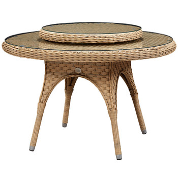 "El Dorado Outdoor 67"" Dining Table with Lazy Susan"