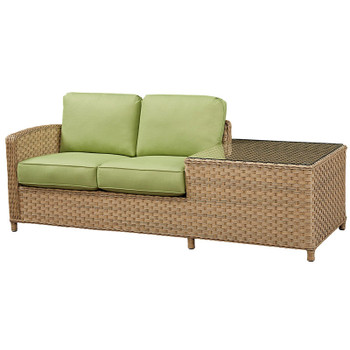 El Dorado Outdoor 1-Arm Loveseat with Corner Table