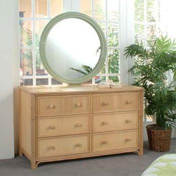 Summer Retreat Twelve Drawer Dresser with mirror