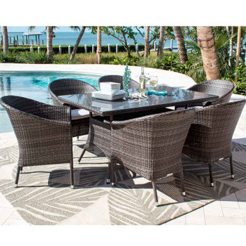 Spectrum Outdoor 7 pc Rectangular Dining Set