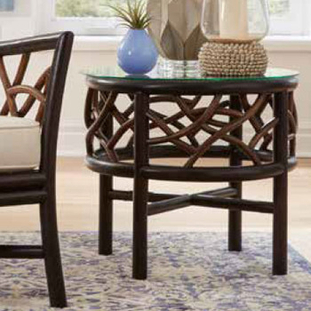 Trinidad End Table with Glass