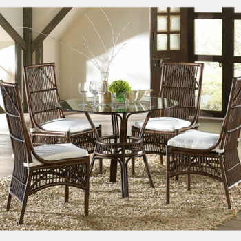 Bora Bora 6 Piece Dining Set with Glass Top