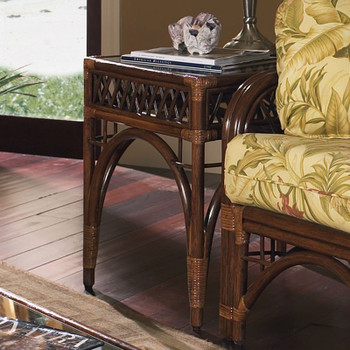 Caliente End Table With Glass Top