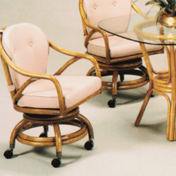 Classic Comfort Dining Chair With Casters