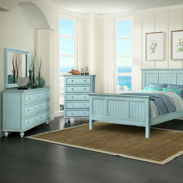 Monaco Bedroom Collection in a bleu finish