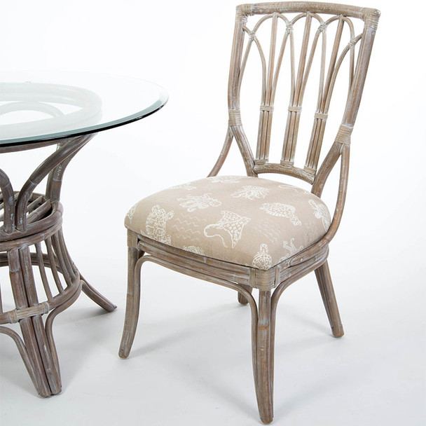 Cuba Dining Side Chair in Rustic Driftwood finish