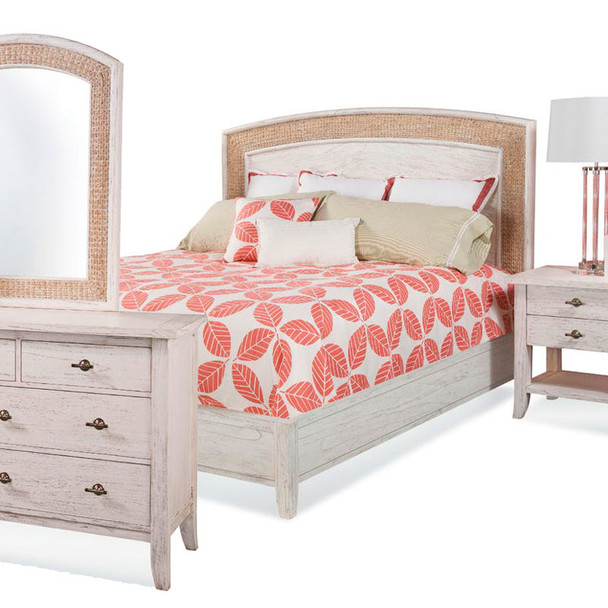 Fairwind 4pc Queen Seagrass Bedroom Set with Complete Bed