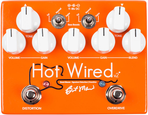 Wampler Hot Wired V2 Brent Mason ~ Overdrive / Distortion Pedal