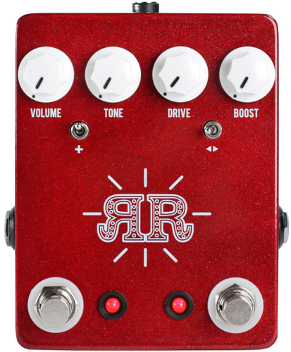 JHS Ruby Red ~ Butch Walker Signature 2-in-1 Overdrive/Fuzz/Boost (JHS Ruby Red)