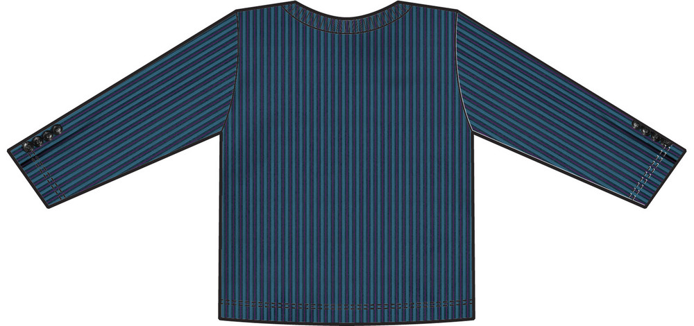 Faux Real Youth Pinstripe Suit - Back