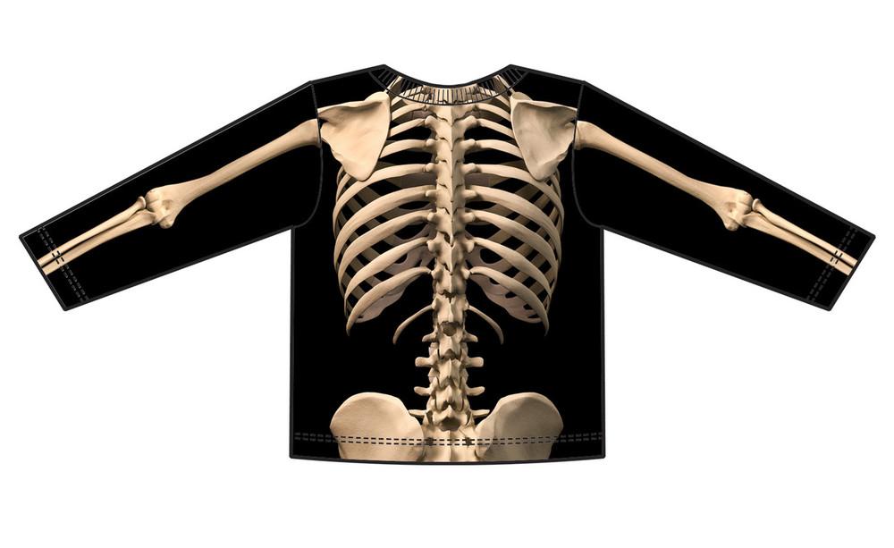 Faux Real Toddler Skeleton - Back View