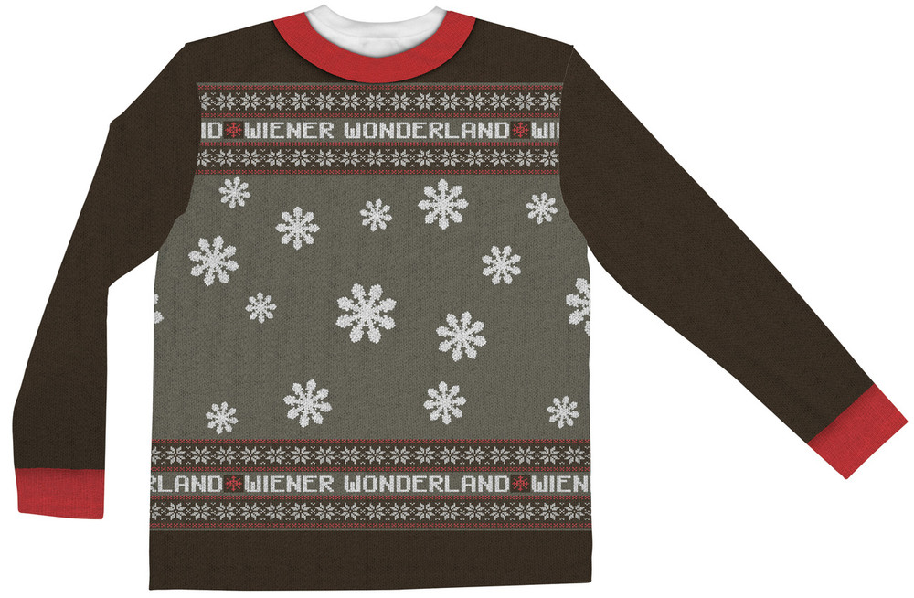 Faux Real Men's Wiener Wonderland - Back View